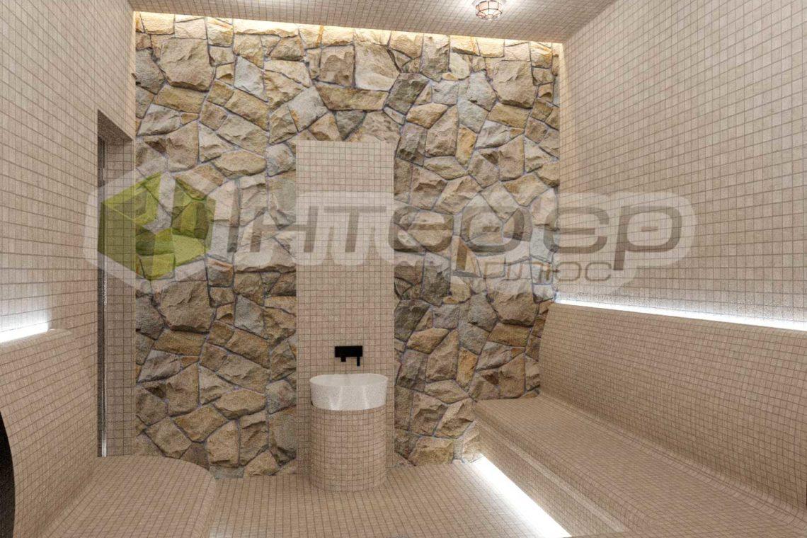 Дизайн парилки в Руской бани Киев